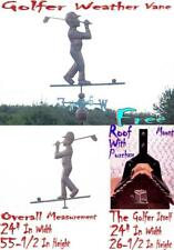 WEATHER VANE 3D (FULL BODY) COPPER GOLFER WEATHERVANE WITH FREE ROOF MOUNT