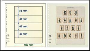 5 LINDNER 802401 T-Blanko-Blätter Blankoblätter 4 Taschen 55/46/45/45x189cm