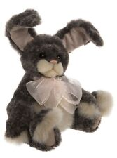 Ash collectable jointed plush bunny rabbit by Charlie Bears - CB192023B