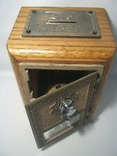 Vintage US Post Office Box Genuine Door Bank 69 LTD Edition Oak Wood Coin Bank