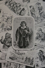London BEECHAM'S PILLS Christmas Advertising 1889 Compilation of Campaign Matted