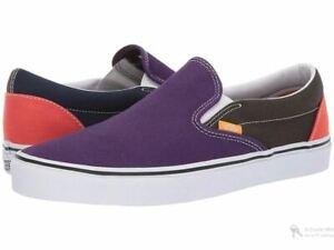Vans CLASSIC SLIP ON Mix&Match Violet Indigo Women's Shoes Size 6.5