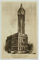 Postcard New York City NY Broadway The New Singer Building Street View 1900's