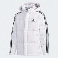 Adidas 3-Stripes Duck Down Winter Hoodie Jacket Parka Pupper Mens White /EH3971