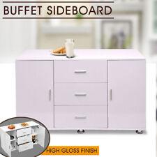 Home Kitchen Buffet Sideboard High Gloss Storage Cabinet Dresser Table Cupboard
