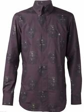 Vivienne Westwood Purple Face Printed Mens Shirt 100% Cotton Sz IV / XL / UK 42