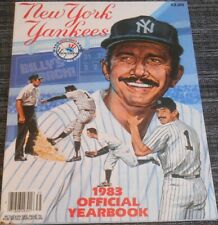 1983 NEW YORK YANKEES YEARBOOK - Billy Marin Cover - NRMT