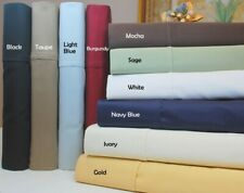 Glorious Bedding Sheet Set 4 PCs 1000TC Organic Cotton Cal King Size All Solid