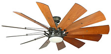 60 In Large Ceiling Fan WindMill Blades Led Dimmable Decorative Bronze Trudeau