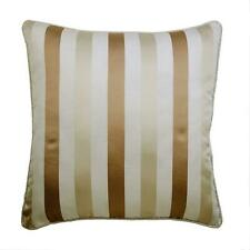 Beige Pillow Cover 18x18 inch Decorative Jacquard, Fabric - Striped With Beige
