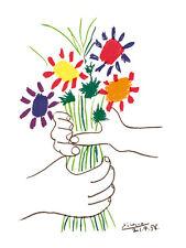 Pablo Picasso Bouquet Poster Kunstdruck Bild 80x60cm