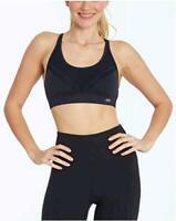 Marika Womens Skylar Sports Bra, Black, Size Large Hame