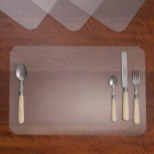 Set Of 4 See Through Clear Plastic Placemats Protective Kitchen Table Mats  New