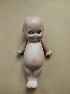 Antique Bisque O'Neill Kewpie Doll Strung Arms Starfish Hands Blue Wings. Marked