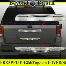 2003-2012 FORD EXPEDITION Chrome LOWER Tailgate Handle COVER+TOP Molding Trim