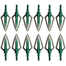 "12Pc 100Gr Broadheads Arrowheads 1"" Cut Arrow Heads Tips For Hunting Archery"