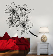 Vinyl Wall Decal Beautiful Flowers Branch Garden Room Decor Stickers (1360ig)