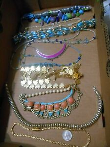 MIXED LOT OF 16 NECKLACES,SOME STATEMENT,MOST CHUNKY