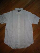 +++nwt Polo Ralph Lauren Short Sleeve 100% Linen Shirt sz L+++