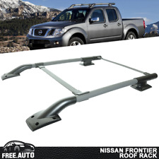 Fits 05-17 Nissan Frontier Cross Bar OE Style Roof Rack Rail Black Cap