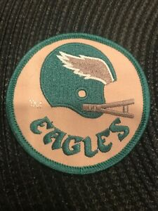 """Philadelphia Eagles Vintage Embroidered Iron On Patch NFL  AWESOME 3"""" x 3"""""""