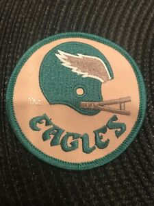 "Philadelphia Eagles Vintage Embroidered Iron On Patch NFL  AWESOME 3"" x 3"""
