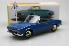 Atlas 1423 Dinky toys 1:43 Cabriolet 504 Peugeot Alloy car model Roadster Blue