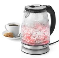 Salter Colour Changing Glass Kettle with LED Illumination 1.7 Litre 2200W Silver
