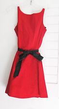Ralph Lauren Girls Cotton Sateen Fit & Flare Dress Red Sz 14 - NWT