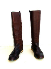 Zara  botas de verano  en piel marron en 38. Brown leather Summer boots size 38
