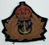 Rare WW1 Era Shipping Federation Officers bullion cap badge - Merchant Navy -