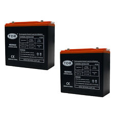 2x 12V 20AH Rechargeable Battery 20HR VRLA SLA AGM Jump Starters Caravan Gophers