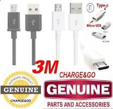 3 M Mètre Samsung Galaxy S8 S7 S6 S5 S4 Micro USB C Chargeur Données Câble