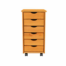 6-Drawer Portable Storage Cabinet Home Office Filing Organizer Side Table Accent