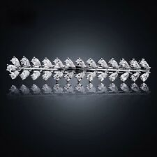 BARRETTE use Swarovski Crystal Hair Clip Hairpin Bridal Wedding Silver Simple 4