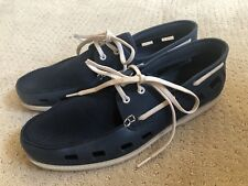Wembley Blue/White Rubber Boat Shoes~Men's Large (10-11)