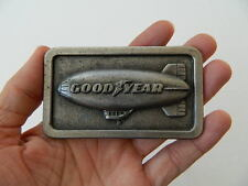 VINTAGE, 1974 THE GOODYEAR (BLIMP) TIRE & RUBBER CO., G-96, PEWTER BELT BUCKLE