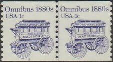 Scott# 1897 - 1981-84 Transportation Series - 1 cent Omnibus Coil Pair (A)