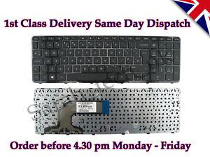 HP Pavilion 15 708168-031 9Z.N9HSQ.00U 719853-031 Laptop UK Keyboard With Frame