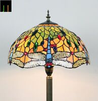 Light Up April Sale Floor Lamp JT Tiffany Dragonfly Stained Glass Light Artwork