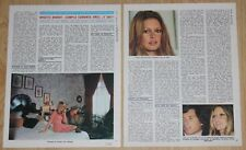 BRIGITTE BARDOT INTERVIEW 3 page 1974 magazine article clippings color photos