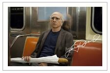 LARRY DAVID CURB YOUR ENTHUSIASM AUTOGRAPH SIGNED PHOTO PRINT