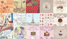 Lot 15 Serviettes en papier Paris Pâtisserie Tour Eiffel - Paper Napkins
