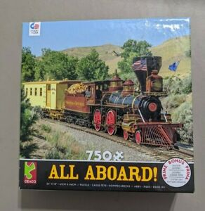 Ceaco 750 Piece Puzzle/All Aboard/Train/FREE SHIPPING!