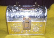Vintage Jewelry Chest/Lunch Box-Made in Italy-Plastic with Metal Hinges
