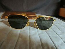 VINTAGE AMERICAN OPTICAL AVIATOR STYLE SUNGLASSES GOLD FILLED FRAME GENTLY USED