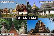 SOUVENIR FRIDGE MAGNET of CHIANG MAI THAILAND