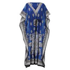 Blue Mosaic Drawstring Caftan, Blue