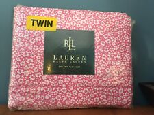 Ralph Lauren Nellie Floral Twin Flat Sheet 100% Cotton 200 Tc Brand New in pkg
