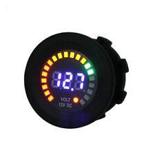 12V Car Motorcycle LED Panel Digital Display Volt Voltage Gauge Meter Black